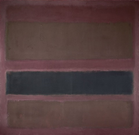 no 18 brown and black on plum by mark rothko