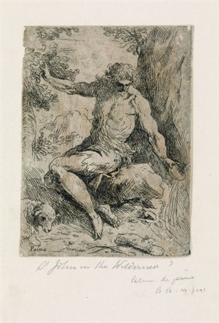 st john the baptist in the wilderness by jacopo palma il giovane