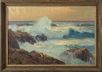 breakers near point lobos by frank harmon myers