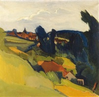 paysage à linkebeek by charles dehoy