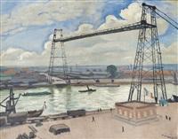 rouen, le pont transbordeur by albert marquet