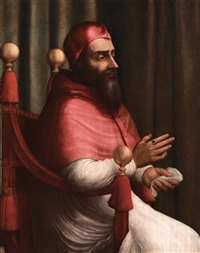 portrait of pope clement vll by giuliano bugiardini