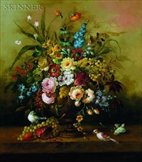 floral still life by jeannine albert