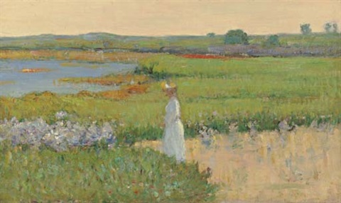 woman by the sea cape ann massachusetts by theodore wendel