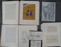 le jockey et la course (2 works) by raoul dufy