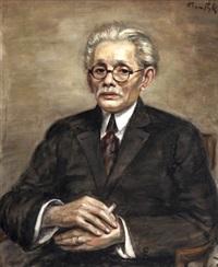 portret mężczyzny z papierosem by roman kramsztyk