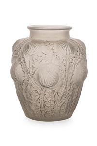 domrémy frosted glass vase by rené lalique