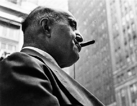 untitled man smoking a cigar by leon levinstein