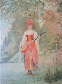 musicienne orientale by henry eugène delacroix