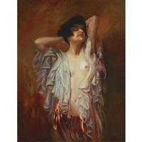 draped woman by ambrogio antonio alciati
