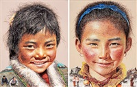 tibet himalaya (2 works) by lim young sun