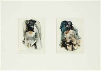 untitled (diptych) by nancy grossman