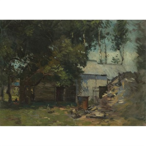 barn in summer by paul cornoyer
