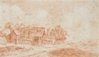 paysages animés (pair) by alexis nicolas perignon the elder