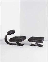 chair and ottoman by oscar niemeyer