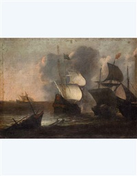 marina con vascelli by andries van eertvelt