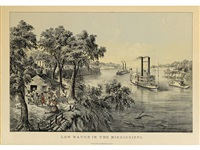 low water in the mississippi by currier & ives (publishers)