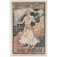 affiche pour jeanne d'arc de jules barbier by eugène grasset