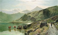 llyn llyndaw by herbert richard percy