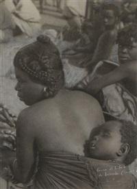 femme et enfant du lusambo - congo by casimir zagourski