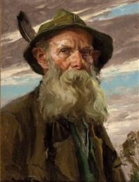 porträt eines bärtigen mannes by hans best