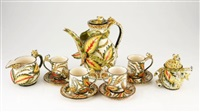 leopard coffee service (set of 11) by ardmore ceramics