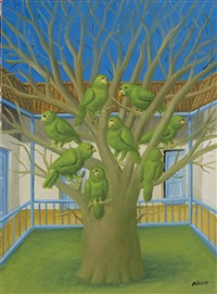 the dead tree by fernando botero