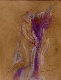 jeune femme nue by edmond françois aman-jean