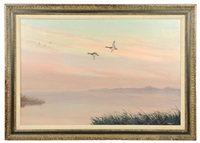 ducks in flight by walter andrews