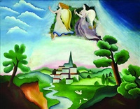 landscape with angels by adolf hoffmeister