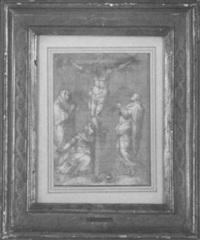 la crucifixion avec la vierge, saint jean et marie-madeleine by michele monghelli