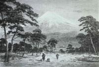 mount fuji from matsubara by g.t. yokouchi