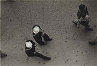 two sailors, times square, nyc, 1950 by ruth orkin