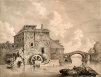 landscape with mill by paul weis