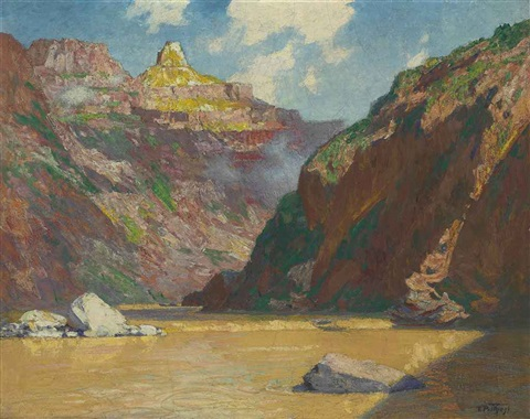 down in the grand canyon by edward henry potthast