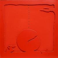 teatrino (rosso) by lucio fontana