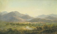 river landscape with vista, new york state by herman fuechsel