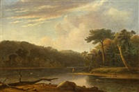 man fishing in a stream by thomas doughty