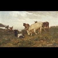 armenti al pascolo by italian school-piedmont (19)