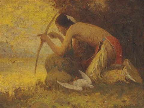 indian a taos hunter by eanger irving couse