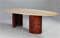 large dinner table by aldo tura