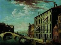 venise: le canareggio avec le pont aux trois arches by jacopo fabris