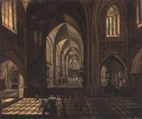 intérieur d'église by pierre-joseph lafontaine