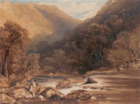 a salmon fisherman probably on the river dee by samuel jackson