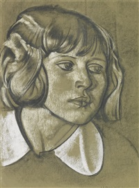 head of a girl by eric henri kennington