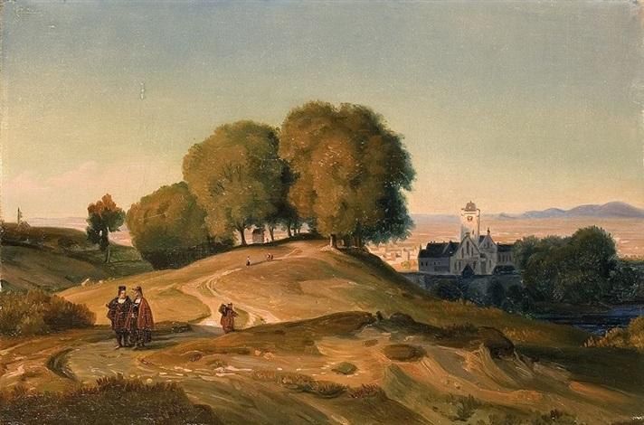 das kloster oberhalb des tals by karl friedrich lessing