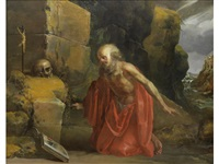 saint jerome in the wilderness by jan van de venne