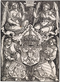 coat of arms of the german empire and of nuremberg city by albrecht dürer