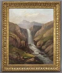 waterfall by hermann herzog