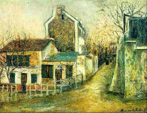 le lapin agile by maurice utrillo